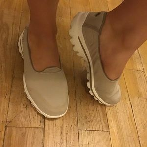 Nude slip on shoes